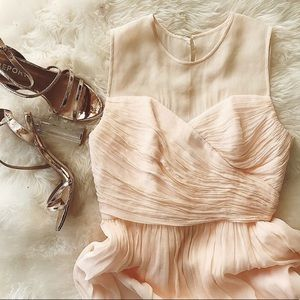 NWT J. Crew Silk Chiffon Clara Dress Light Pink